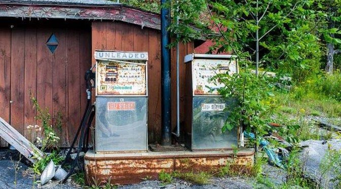 Abandoned pump. What the slump in oil prices means for Big Oil