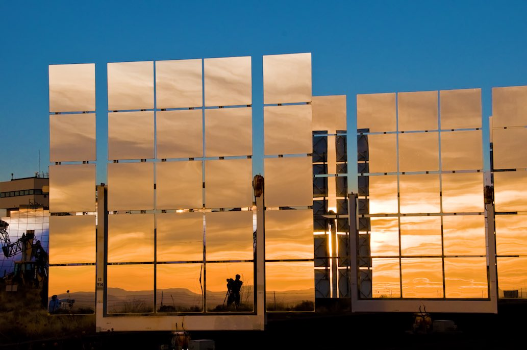 An experimental solar mirror from Sandia Labs.