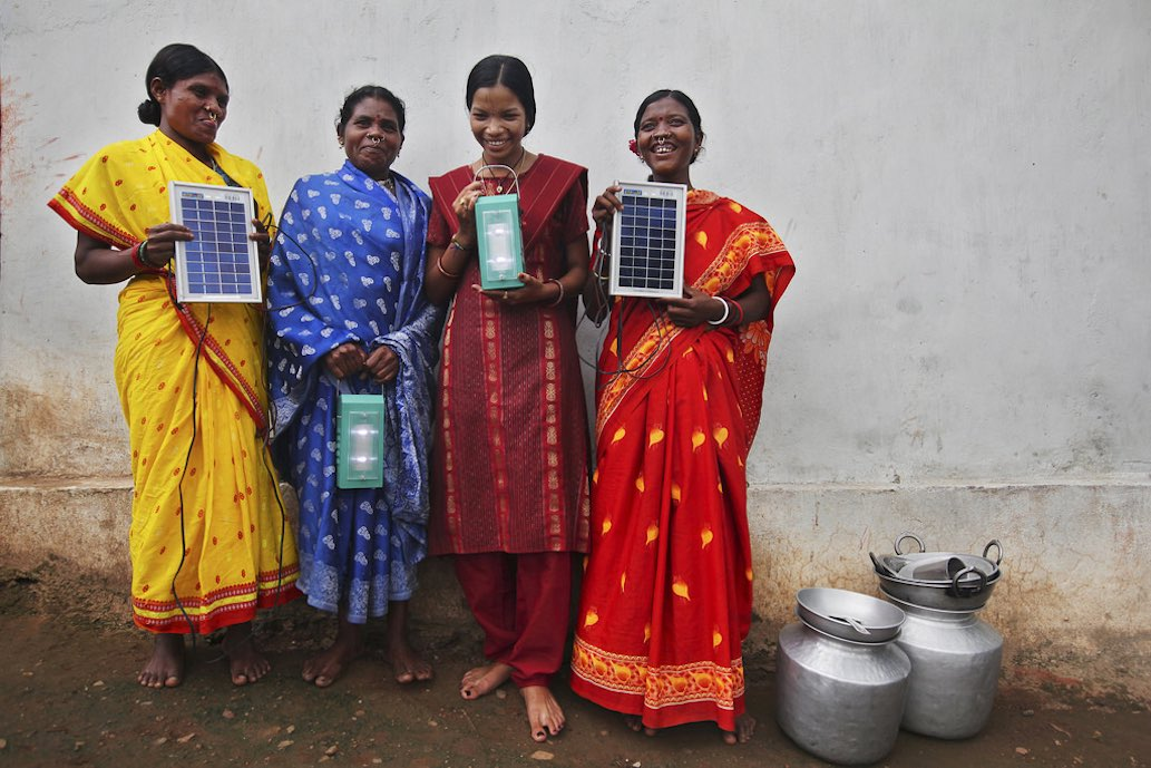 After five monthís training in solar power engineering, four women in Tinginaput, India are transforming their remote village - bringing light and electricity to their homes. See how they are providing a new, ìgreenî path for development in our photo gallery. And find out more about the female solar engineers at: www.dfid.gov.uk/solarengineers