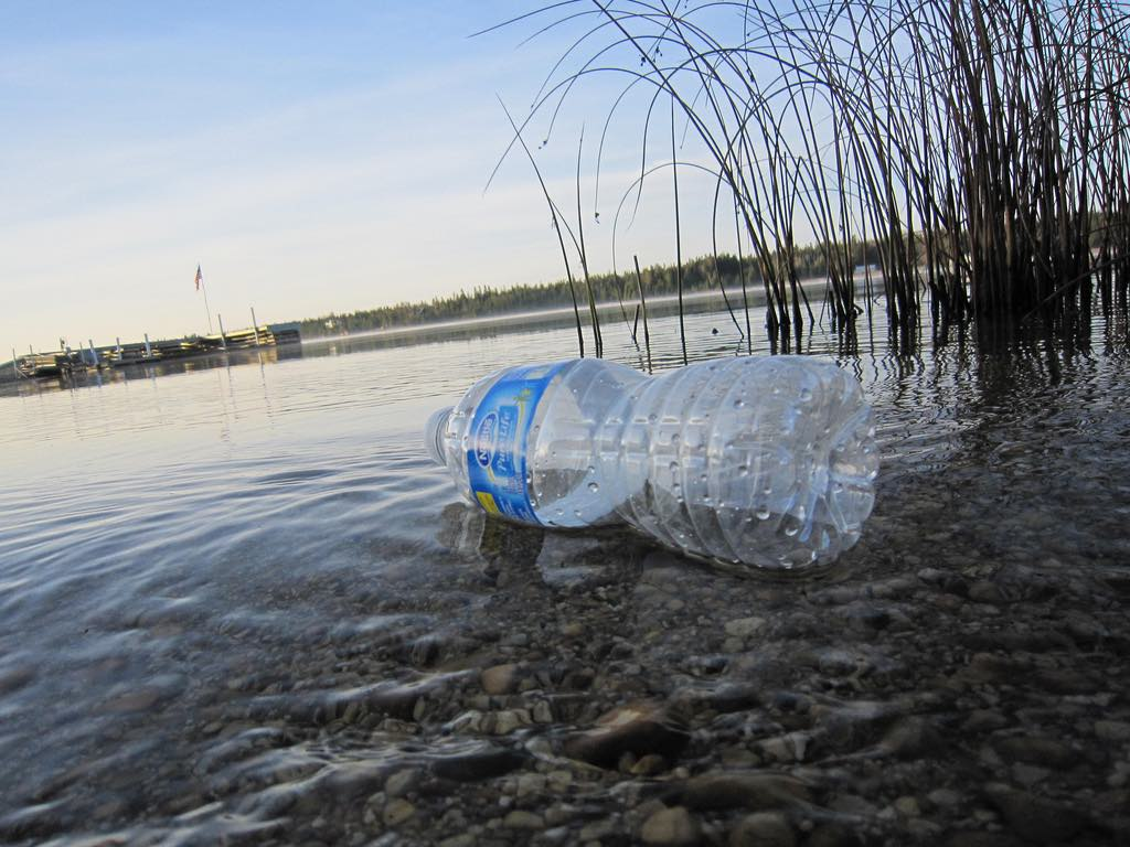 Single-use water bottles aren't carbon neutral